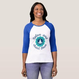 Raglan T-Shirt with Azure Mandala