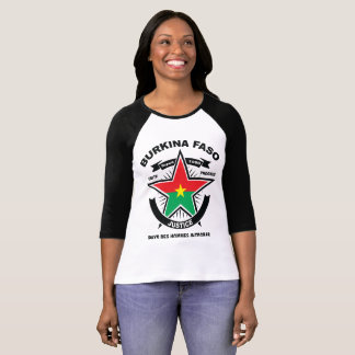 Raglan tee-shirt Burkina Faso Faso Star T-Shirt