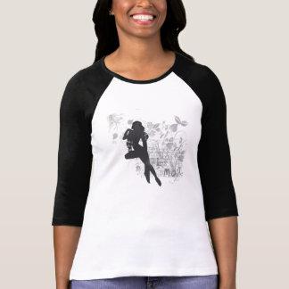 Raglen des femmes françaises d'art déco 3/4 tshirts