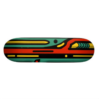 RAGNAROK COLORFUL NORTHWEST by Slipperywindow Skateboard Deck