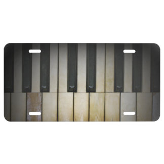 Ragtime Piano Keys License Plate