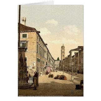 Ragusa the Franciscan Church Dalmatia Austro-Hu Greeting Card