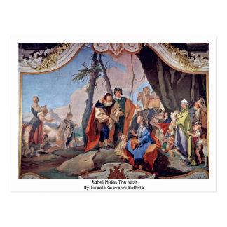 Rahel Hides The Idols By Tiepolo Giovanni Battista Postcard