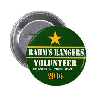 Rahm Ranger's Volunteer 2 Inch Round Button