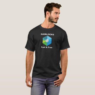 Raiblocks - Fast and Free: XRB logo T-Shirt