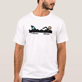 Raiblocks Shark after Bitcoin Stick Figure T-Shirt