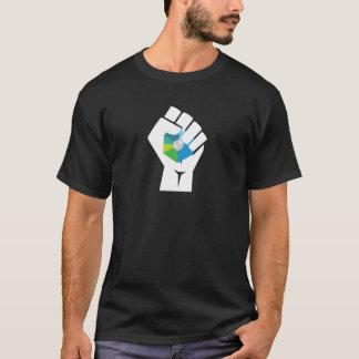 Raiblocks XRB Logo resist fist: White T-Shirt