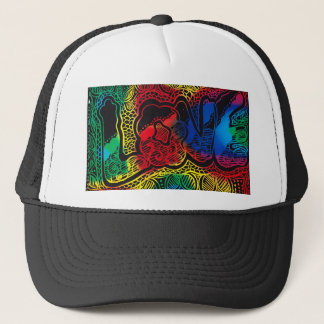 Raibow love trucker hat