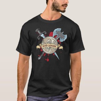 RAID LEADER Tattoo - Sword, Axe, and Shield T-Shirt
