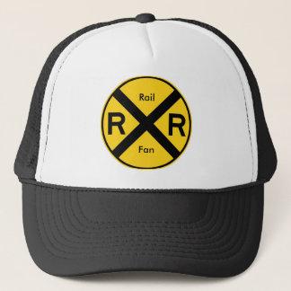 Rail Fan - Railroad Crossing Trucker Hat