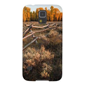 Rail Fence Across Sage Brush In Grand Teton Galaxy S5 Case