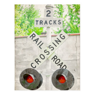 Rail Road Crossing Postcard