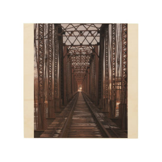 Rail Road Tracks in PA Wood Canvases