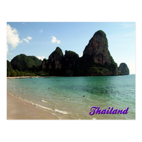 Railay Beach, Krabi, Thailand Postcard