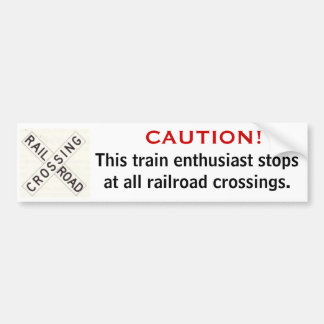 Railfan Bumper Sticker