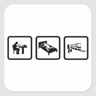 Railfans Square Sticker