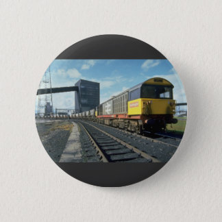 Railfreight coal train at U.K. power station, U.K. 2 Inch Round Button