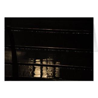 Railings and water drops card