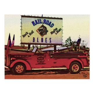 Railroad Blues Fire Truck, Alpine, TX Postcard