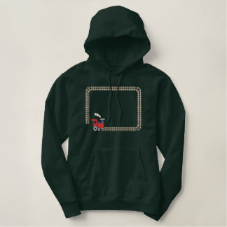 Railroad Border Embroidered Hoodie
