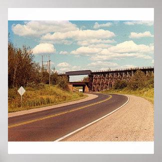 Railroad Bridge Poster