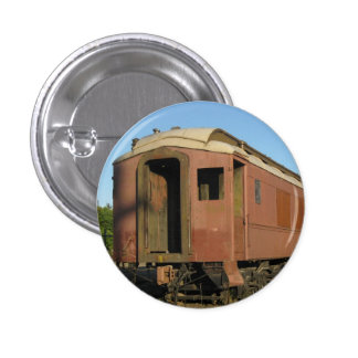 """ Railroad Car ! "" 1 Inch Round Button"