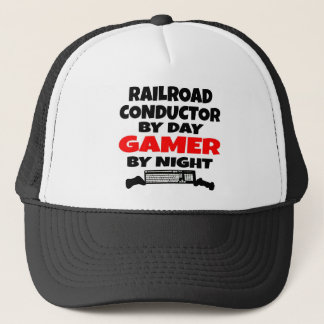 Railroad Conductor Gamer Trucker Hat