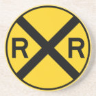 Railroad Crossing Highway Sign Coaster