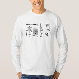 Railroad Crossing Lifesaving Signs Long Sleeve T-Shirt