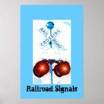 Railroad Crossing Signal Scenery Poster