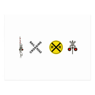 Railroad Crossing Signals - Caution! Postcard
