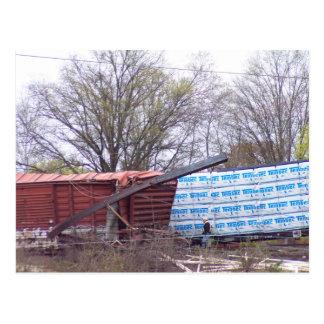 Railroad Derailment Photo 1 CSX Train K277-22 Postcard