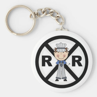 Railroad Engineer-Boy T-shirts and Gifts Basic Round Button Keychain