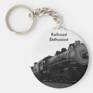 Railroad Enthusiast Keychain