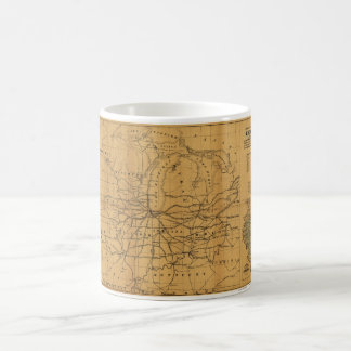 Railroad Map Chicago & Surrounding Midwest c. 1850 Coffee Mug