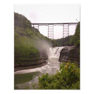 Railroad over the Falls Photo Print