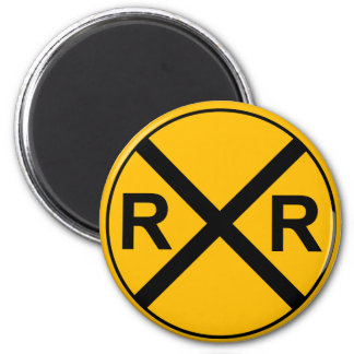 Railroad Sign Magnet