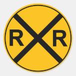 Railroad Sign Sticker