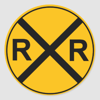 Railroad Sign Sticker