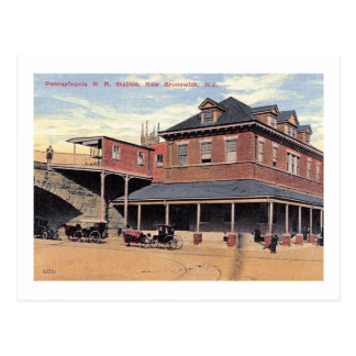 Railroad Station, New Brunswick, NJ Vintage Postcard