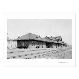 Railroad Station View Postcard