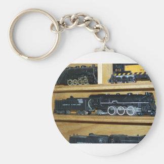"""Railroad Steam Engines....""""Steamin On"""" Basic Round Button Keychain"""