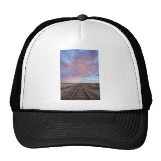 Railroad Tracks Into the Sunset Trucker Hat