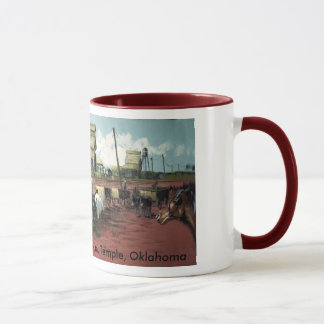 Railroad Tracks Mural 1910 Mug