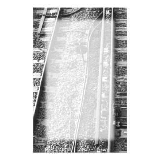 Railroad Tracks Picture. Stationery
