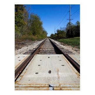 Railroad Tracks Postcard