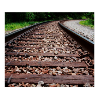 Railroad Tracks Poster