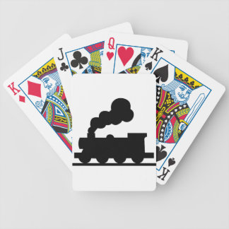 Railroad Train Bicycle Playing Cards