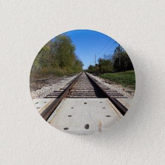 Railroad Train Tracks Photo 1 Inch Round Button