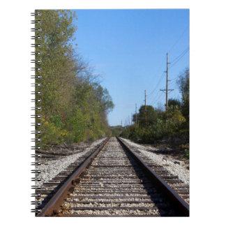 Railroad Train Tracks Photo Notebook